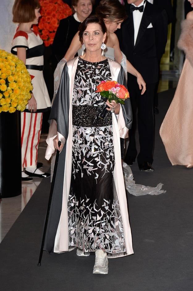 In Chanel spring '14 couture at the 2014 Rose Ball.