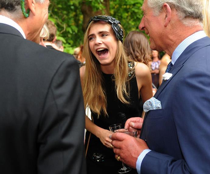 celebrities meeting royals