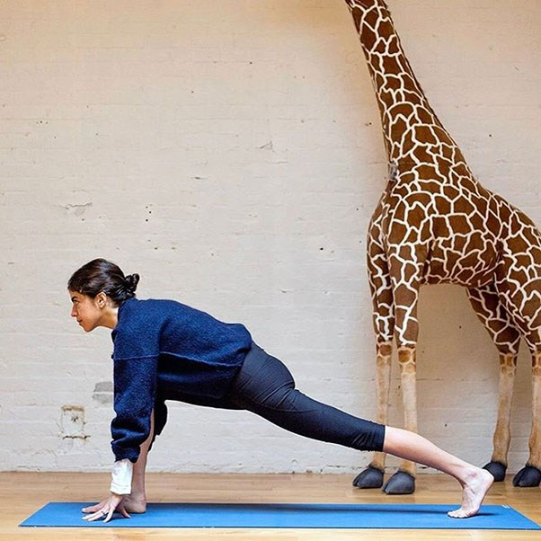 "<strong>Leandra Medine</strong><br><br> Medine doesn't detail the brands behind her yoga outfits, but she did dedicate a post to her love for Outdoor Voices leggings on a post for <em><a href=""http://www.manrepeller.com/2017/01/workout-leggings-as-pants.html"">Man Repeller</a></em>."