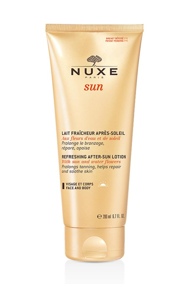 <strong>Nuxe Après-Soleil </strong> <br> <br> This product is a very subtle tan extender. The kind that won't leave you with streaky hands—just a deeply hydrating glow.