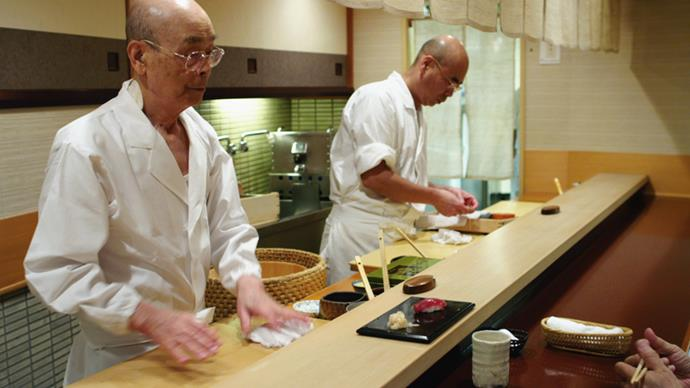 <strong>Jiro Dreams of Sushi (2011)</strong> <BR><BR> <strong>What kind?</strong> Food <BR><BR> <strong>What's it about?</strong> The 85-year-old (now 91) sushi master Jiro Ono, who owns a renowned Tokyo restaurant, and his relationship with his son and heir Yoshikazu.