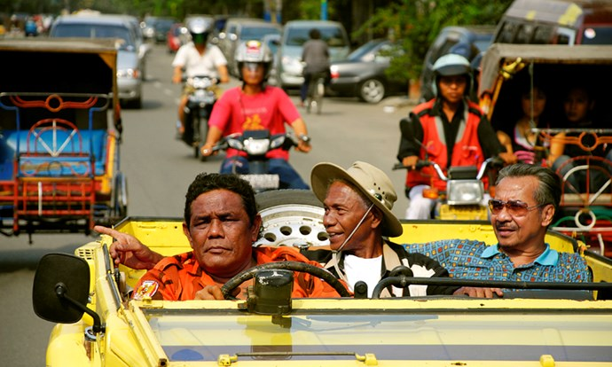 <strong>The Act of Killing (2012)</strong> <BR><BR> <strong>What kind?</strong> Crime, biography <BR><BR> <strong>What's it about?</strong> The documentary challenges former Indonesian death-squad leaders to reenact their mass-killings, however they please.