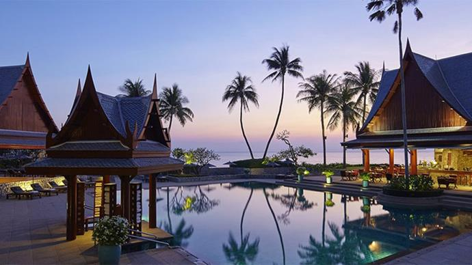 """<strong>Chiva-Som International Health Resort </strong> <br> <br> The award-winning spa destination is a Thailand must-visit. Upon arrival, the holistic medical staff construct a nutrition, fitness and therapy plan best suited to you. Stay from three to 14 nights. <br> <br> <em><a href=""""http://www.chivasom.com/retreats-and-prices/view-all-retreats/"""">Chiva-Som</a></em>"""