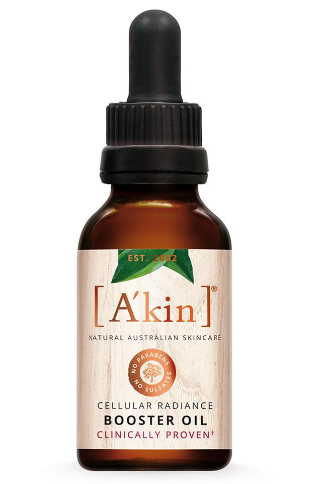 "A'kin Cellular Radiance Booster Oil, $46.95 at <a href=""https://www.akin.com.au/a-kin/shop-skin-care/category/serums,-oils-and-treatments-/p/cellular-radiance-booster-oil-20ml/1430062.html"">Akin</a>"