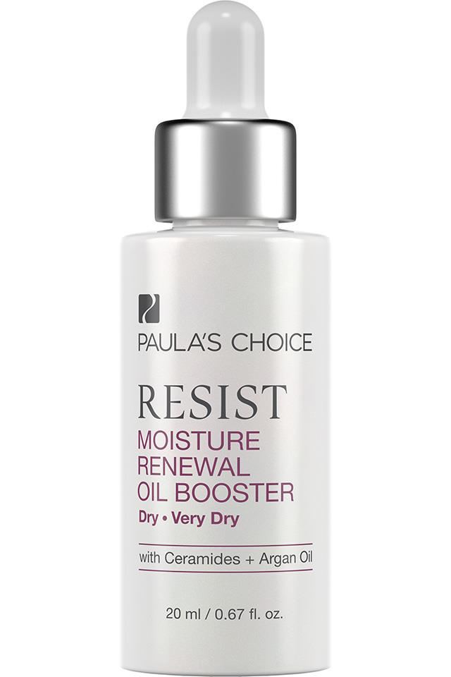 "Paula's Choice Resist Moisture Renewal Oil Booster, $50 at <a href=""http://www.paulaschoice.com.au/shop/skin-care-categories/targeted-treatments/_/Resist-Moisture-Renewal-Oil-Booster?sku=7847&ftlt=branded&utm_medium=cpc&utm_source=google&utm_type=shopping&utm_campaign=aubrandpla&utm_adgroup=7847&p=OMSEMMARCHFSAU"">Paula's Choice</a>"