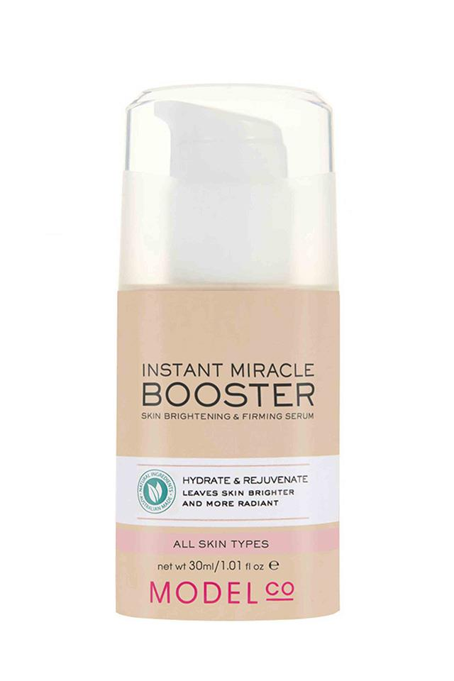 "ModelCo Instant Miracle Booster Skin Brightening & Firming Serum, $35 at<a href=""https://www.modelcocosmetics.com/shop/instant-miracle-booster-skin-brightening-firming-serum""> ModelCo</a>"