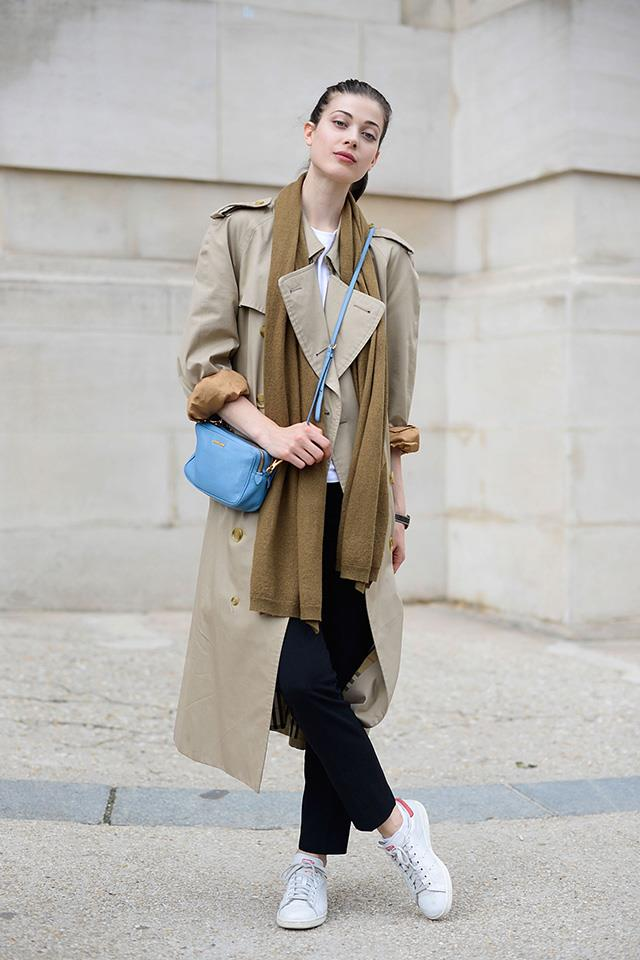<strong>The Burberry trench<strong><br><br> The trench coat serves as the foundation of the Burberry brand and is as relevant now as it was when the label launched in 1856. Wear yours oversized and with sleeves rolled up for a modern look.