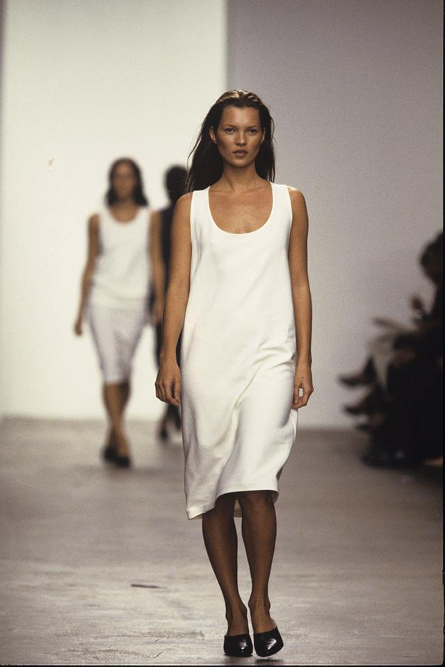 <strong>The Calvin Klein slip dress<strong><br><br> Kate Moss was the first to wear Calvin Klein's minimalist slip dress back in the '90s. It became a sartorial symbol for laidback, grunge chic and has recently been revived.