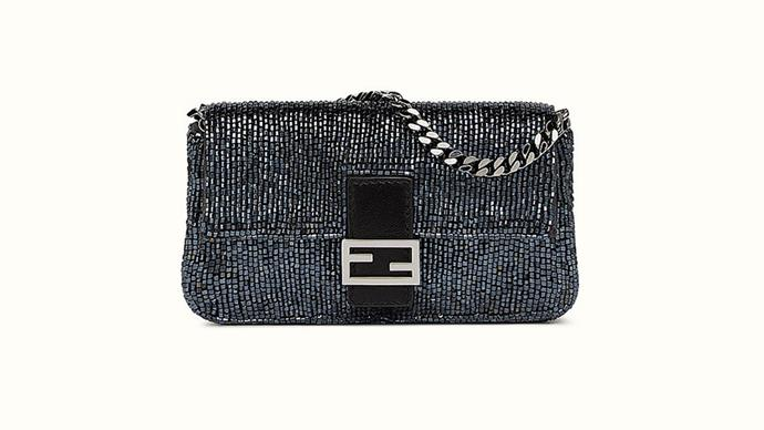<strong>The Fendi Baguette bag<strong><br><br> The Fendi Baguette bag first found fame in <em>Sex and the City</em>, after Carrie Bradshaw gave it her patronage. It fast became the it bag of the Noughties, and has recently been updated with embellished detailing.