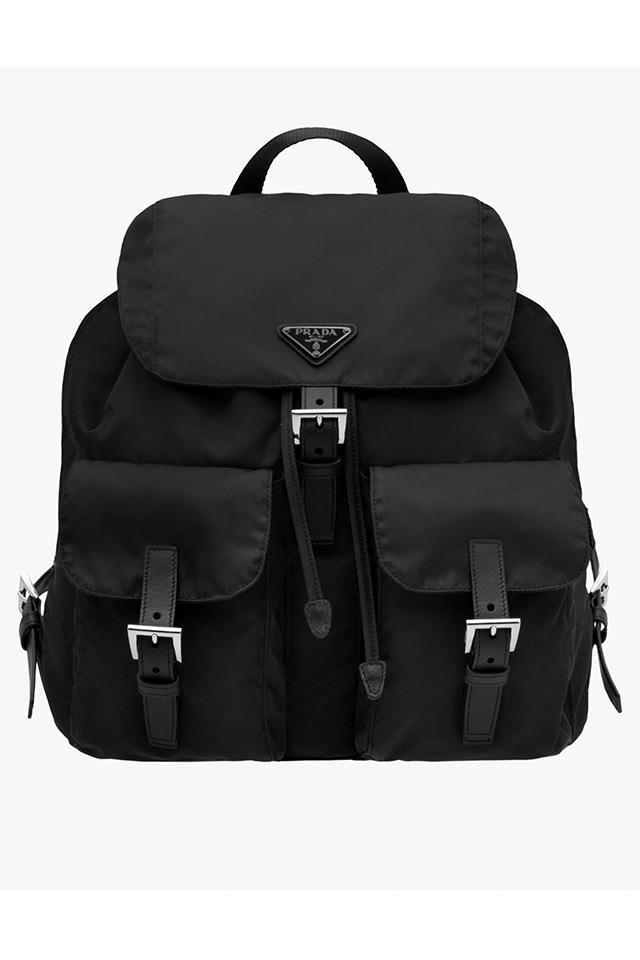 <strong>The Prada backpack<strong><br><br> Miuccia Prada first launched her take on the humble backpack in 1984 and it is still the ultimate go-to for those days where a handbag just won't do.