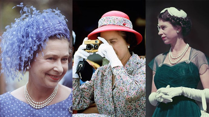 Upon her head, a royal companion. On her shoulder, a whole nation. Queen Elizabeth does wear a lot of hats, 5,000 over the last 50 years to be precise.
