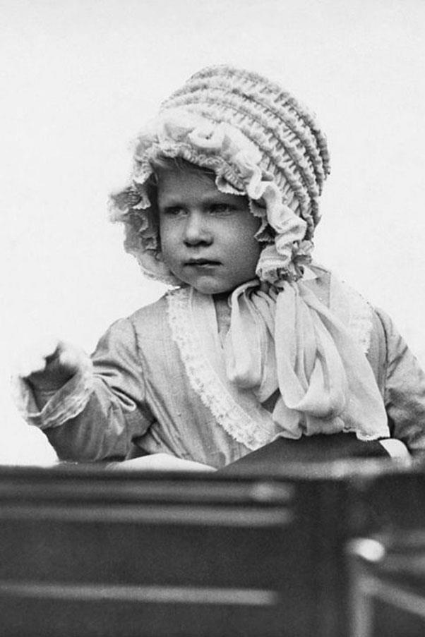 <strong>BABY BONNET</strong> <p><p> The bonnet that started it all. At just two years old, the young Princess Elizabeth knew the power of a good hat.