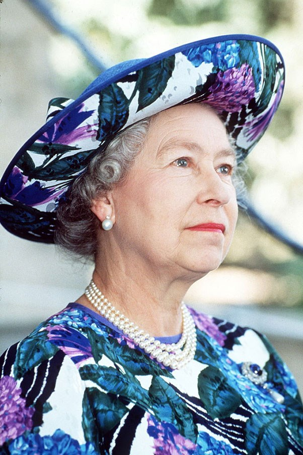 <strong>MATCHY-MATCHY</strong> <p><p> Queen Elizabeth wore this hat, another design by Philip Somerville, in Cyprus in 1993 — proving, once again, that matchy-matchy is, more often than not, the way to go.