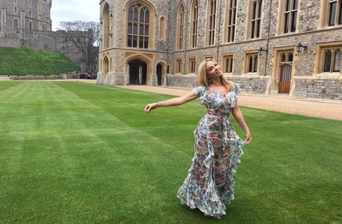 Kylie Minogue British award Alice McCall dress