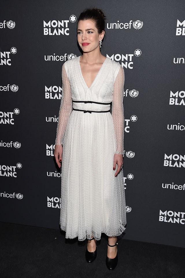 Wearing Giambattista Valli at the Montblanc UNICEF Gala.
