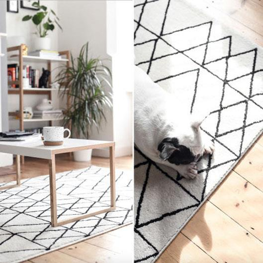 <strong>Separate your space using rugs</strong> <br><br> If your room needs to be multi-functional, you can define different areas by positioning rugs under or alongside furniture. For example, place a mini rug under the desk of the home office or a larger more comfortable rug under a sofa that needs to doubles up as a guest bed.