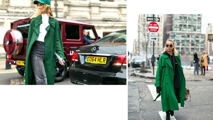 <strong>5. GOING GREEN</strong> <p><p> A vibrant hue of green is spring-perfect.