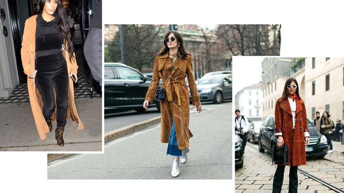 <strong>7. MADE IN THE SUEDE</strong> <p><p> Belted or loose, some good brown suede measures up to something ultra-luxe.