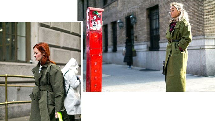 <strong>12. IN THE ARMY</strong> <p><p> Army green just makes sense for a utilitarian—but very cool—trench.