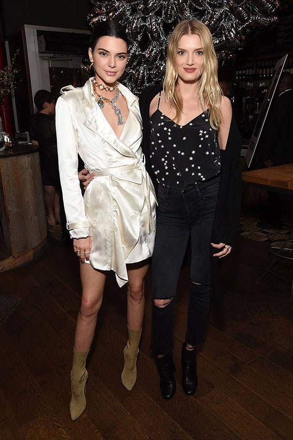 <strong>13. EVENING STEEZE</strong> <p><p> Kendall Jenner takes the trench to after-dark in a silk mini dress.