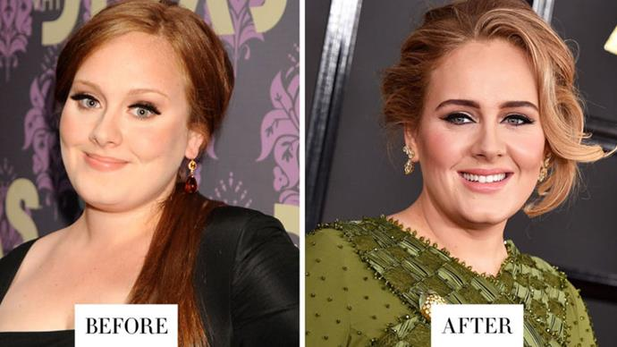 <strong>ADELE</strong> <p><p> Adele's brows are now much darker and more defined.