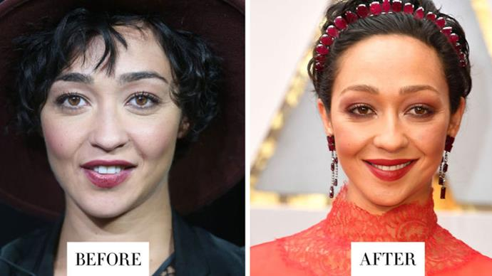 <strong>RUTH NEGGA</strong> <p><p> Negga bleached her brows so they no longer matched her natural hair color, then tightened up the shape at the inner corners.