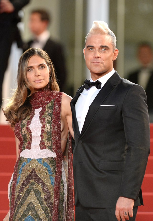 Robbie Williams and Ayda Field.