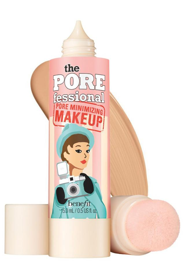 "<strong>Oily skin</strong> <br> <br> ""Look for products without any iridescence or shimmer, which can make you look super-shiny. Instead, opt for liquid formulas that are both matte and oil free."" <br> <br> Benefit Pore Minimising Makeup, $51, at <a href=""https://www.sephora.com.au/products/benefit-cosmetics-the-porefessional-pore-minimizing-makeup/v/03-natural"">Sephora</a>"