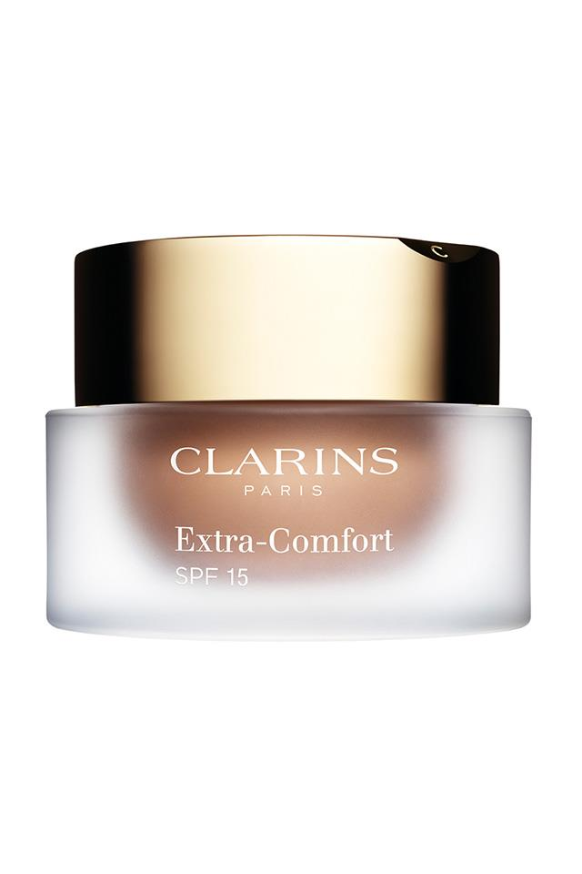 "<strong>Ageing skin</strong> <br> <br> ""<em>This treatment foundation offers true nourishment, leaving skin glowing, supple and plumped</em>."" <br> <br> Clarins Extra-Comfort Anti-Ageing Foundation SPF 15, $75, at <a href=""http://www.clarins.com.au/Extra-Comfort-SPF-15-108/0406141.html?LGWCODE=0406141;120785;2082&gclid=CjwKEAjw_bHHBRD4qbKukMiVgU0SJADr08ZZMGsNZhYaKPTEfQP-R9_iu-Z66q_Uyg6clekeWdz4kBoC7k3w_wcB"">Clarins</a>"