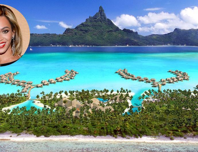 Beyonce Bora Bora