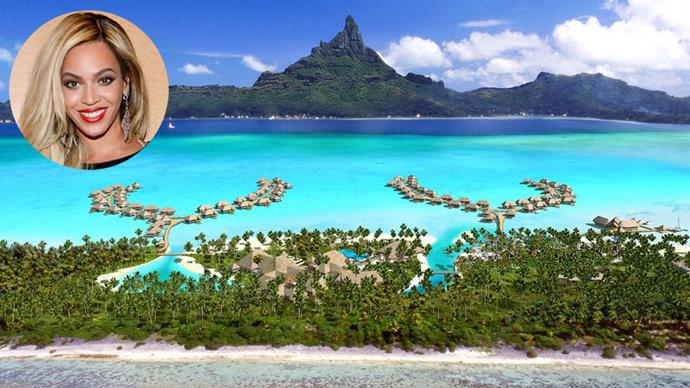 """While fans lamented her absence from this year's Coachella lineup, Beyonce was living her best life on vacation with Jay Z.<br><br> The singer and her husband reportedly holidayed in Bora Bora, where they stayed at the Intercontinental Bora Bora and Thalasso Spa.<br><br> Step this way to see inside the Tahitian escape.<br><br> Images via <a href=""""http://thalasso.intercontinental.com/"""">Intercontinental Bora Bora and Thalasso Spa</a>"""