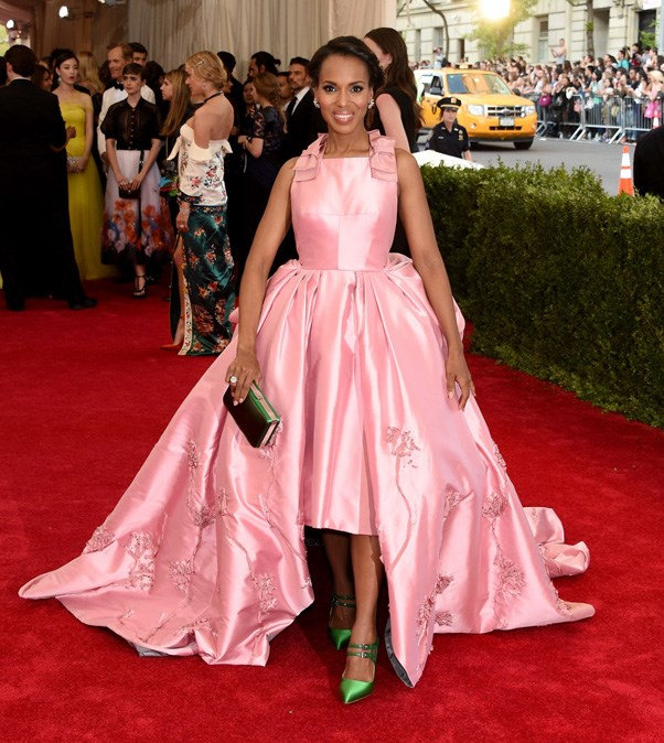 <strong>2015</strong> <br><br> When Kerry Washington looked straight out of a princess fairytale in a pale pink Prada ballgown.