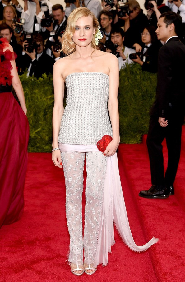 <strong>2015</strong> <br><br> When Diane Kruger proved pants can be just as chic as a gown in Chanel Couture.
