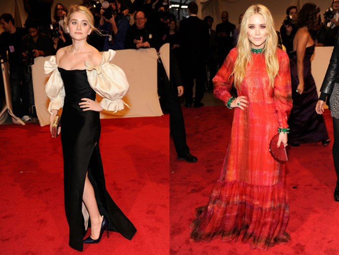 <strong>2011</strong> <br><br> When Ashley played with volume in vintage Christian Dior and Mary-Kate was a vision in crimson Givenchy Couture.