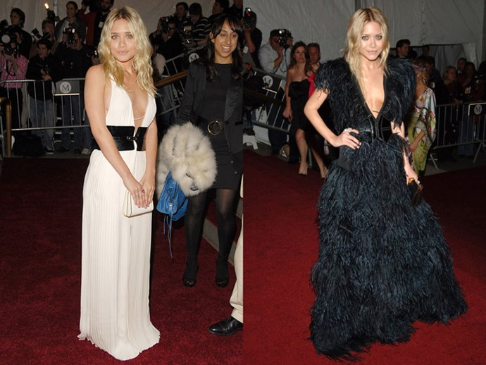 <strong>2007</strong> <br><br> When Ashley wore a plunging white gown and Mary-Kate went for flights of fancy.