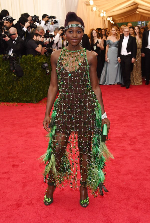 <strong>2014</strong> <br><br> When Lupita Nyong'o shocked us all by ditching her usual Disney Princess dresses for this edgy netted number.