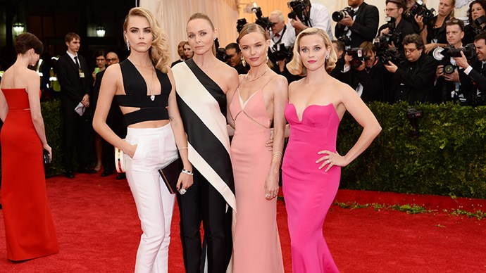 """<strong>2014</strong> <br><br> When drunk Reese Witherspoon <a href=""""https://www.youtube.com/watch?v=k0LLMELEbhw"""">couldn't pronounce Cara Delevingne's last name</a>."""