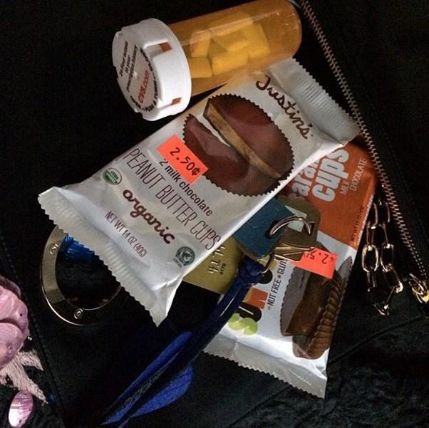 "<strong>2014</strong> <br><br> When Lena Dunham shared her Met Gala essentials, including two packs of peanut butter cups. Image: <a href=""https://www.instagram.com/p/noizDRC1MC/"">@lenadunham</a>"
