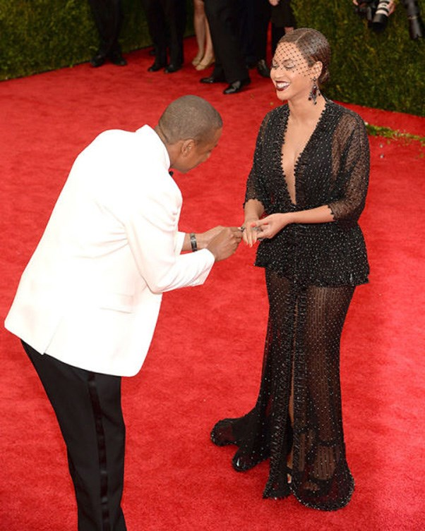 <strong>2014 </strong> <br><br> When Jay-Z put a ring on it. Beyoncé's jewellery had slipped off and her hubby retrieved it for her, which basically looked like he was proposing all over again.