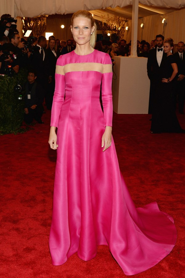 """<strong>2013</strong> <br><br> When Gwyneth Paltrow reminded us how amazing she looks in pink, and then announced she's never going to the Met Gala again because it's """"not fun."""""""