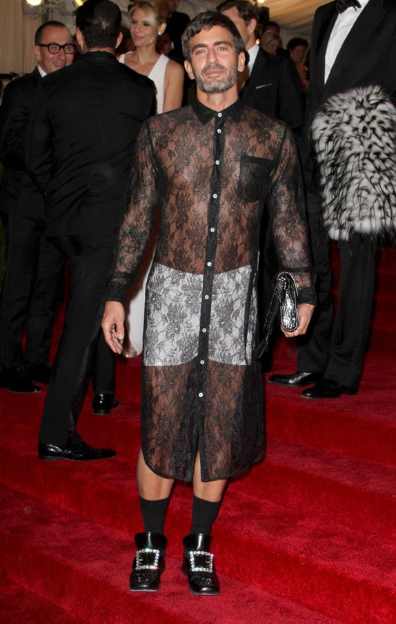 <strong>2012</strong> <br><br> When Marc Jacobs wore a black lace dress over white boxer shorts.