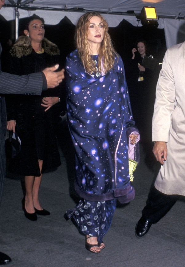 <strong>1997</strong> <br><br> When Madonna wore a space blanket. To the Met Gala.