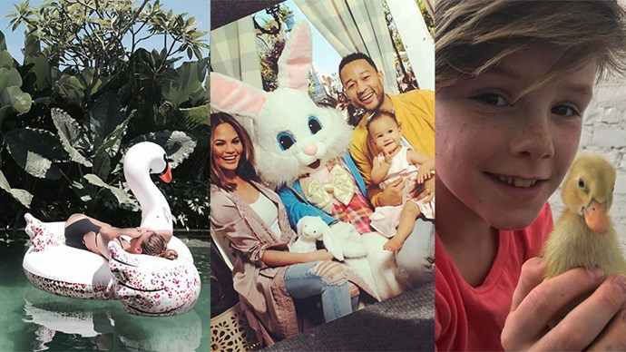 See how fashion's famous faces spent the Easter long weekend.