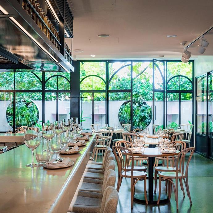 """<a href=""""http://noursydney.com/""""><strong>Nour</strong></a> <br><br> <strong>Location:</strong> Sydney, NSW <br><br> How do you get the lighting this perfect in a restaurant? You knock out the back wall, which is exactly what the owners of Nour did when they renovated the restaurant. (""""Nour"""" is Arabic for """"light."""") The modern Lebanese food also makes the trip to Sydney's Surry Hills worth it. <br><br> <a href=""""https://www.instagram.com/p/BSPWhGYAdtI/"""">@nourrestaurant</a>"""