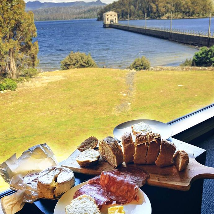 """<a href=""""http://www.pumphousepoint.com.au/""""><strong>Pumphouse Point</strong></a> <br><br> <strong>Location:</strong> Lake St. Clair, TAS <br><br> Pumphouse Point is more than just a restaurant; it's an immersive wilderness experience at a lakeside hotel. You can choose to have meals either in the privacy of your room or at a shared table dining experience, if you want to mingle with other travellers. Eat, explore, rest, repeat. <br><br> <a href=""""https://www.instagram.com/p/BP1wRs1lMgp/"""">@pumphousepoint</a>"""