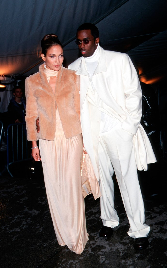<p><strong>JENNIFER LOPEZ AND P DIDDY</strong> <p>1999