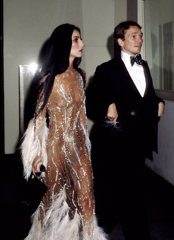 <p><strong>CHER</strong> <p>in Bob Mackie, 1974