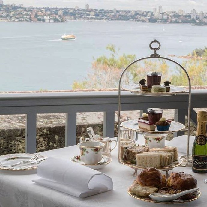 "<a href=""http://www.gunnersbarracks.com.au/""><strong>High tea at Gunners Barracks, Mosman</strong></a> <br><br> This stunning location offers a delightful afternoon tea package from 10 a.m. on weekends. If your mum is really into her tea, take her here, as they have a large variety of blends to choose from. <br><br> Images: <a href=""https://www.instagram.com/p/BS2mSUMFYND/"">@gunnersbarracks</a>"
