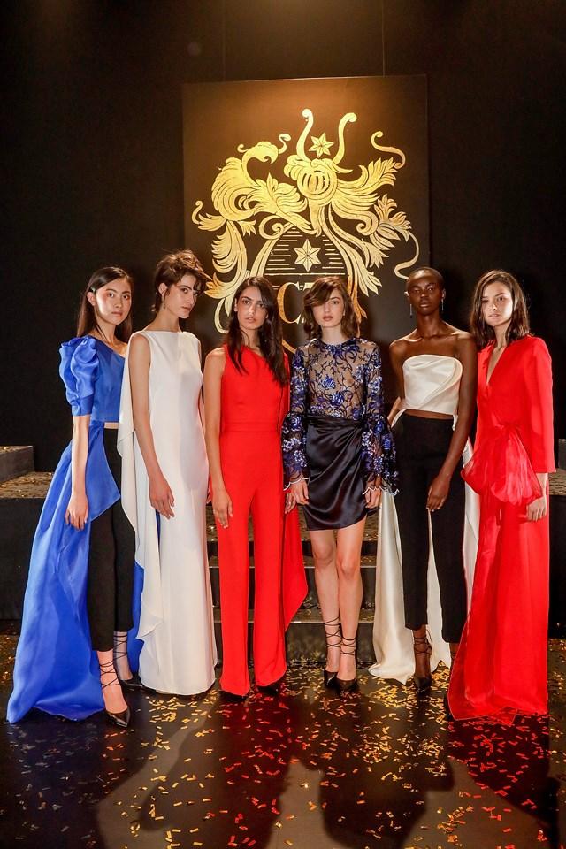 Models at the Carla Zampatti show.