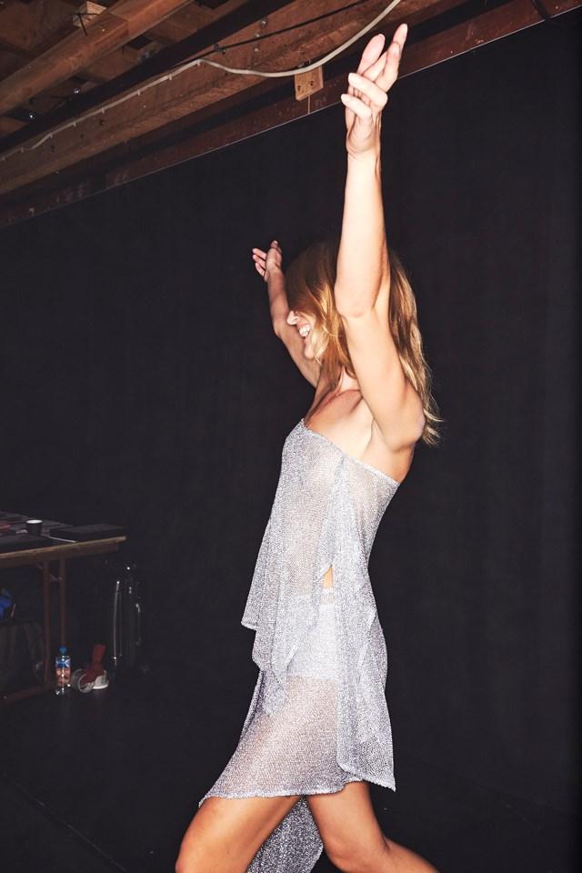 "A model poses backstage at the Carla Zampatti show.<br><br> <em>Image courtesy of <a href=""http://sonnyphotos.com/"">Sonny Vandevelde</a>.</em>"